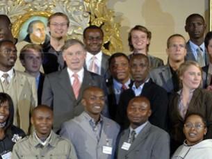 Einladung des Bundespräsidenten: Vertreter des Forums in Accra