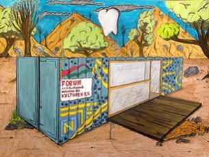 Ein Zahnprophylaxe-Container für Mosambik