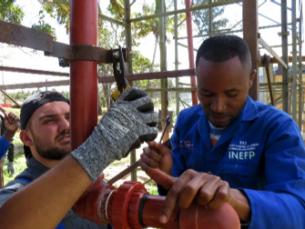 Die Berufliche Schule Anlagen- und Konstruktionstechnik (BS13) in Inhambane